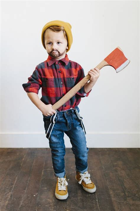 easy  cute kids lumberjack halloween costume ideas