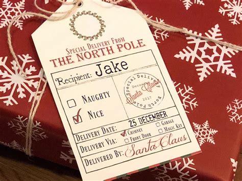 printable santa gift tags signed santa free printable gift tags from santa bear hugs and