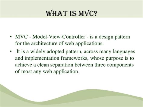 design pattern used in mvc mvc pattern and implementation in java fair