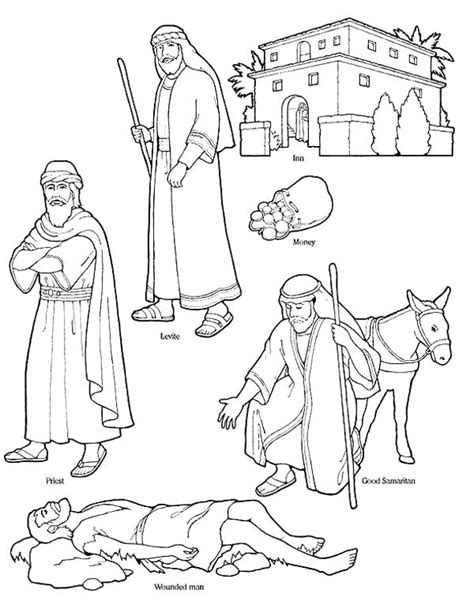 the good samaritan coloring pages 6 coloring page the