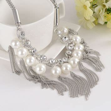 Fashion Vintage Simulated Pearl Chain Hair Accessories Classic best chunky gold and pearl necklace products on wanelo