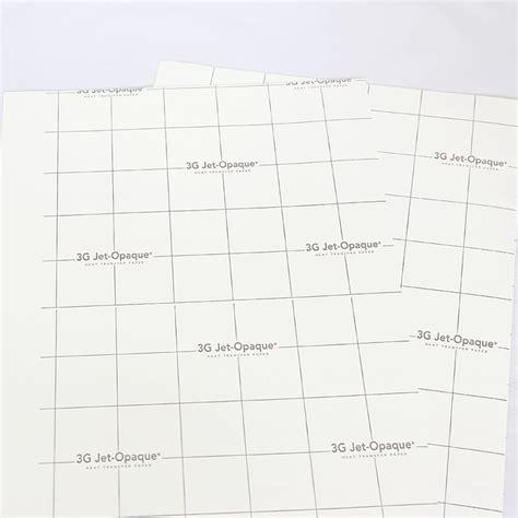 Transfer Paper 3g Opaque 3g jet opaque kleider pte ltd