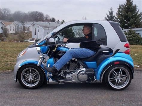 cars like smart car nailed it smart car wrapped to look like a motorcyle