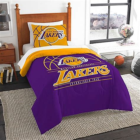lakers comforter nba los angeles lakers twin comforter set bed bath beyond