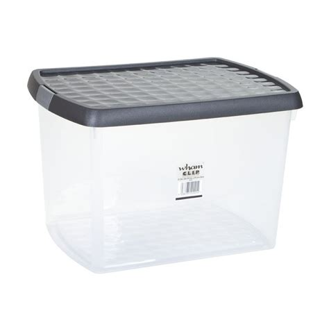 wham plastic storage clip box 21 5 litre buy online at
