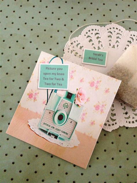 tea bag favor retro handmade envelope