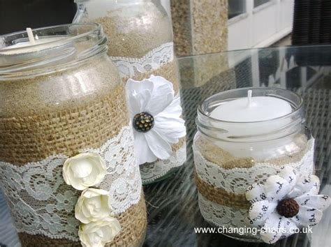 Decorating Ideas For Jam Jars Diy Wedding Decor Ideas Inspiration With A Hessian Touch
