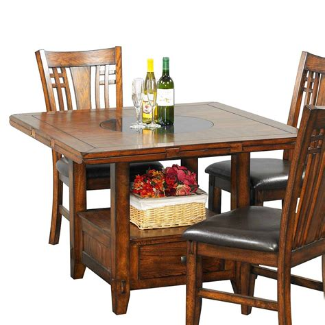 Dining Table With Lazy Susan Winners Only Dzh4260 Zahara 60 In Dining Table With Granite Lazy Susan The Mine