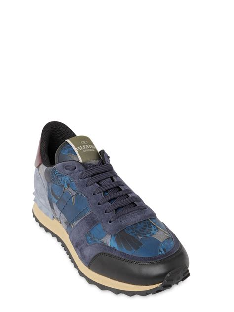 butterfly sneakers valentino rockstud butterfly leather sneakers in blue for