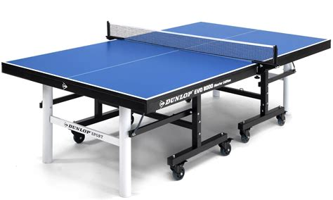 Table Tennis Table by Dunlop Evo 8000 Indoor Table Tennis Table Blue