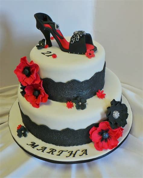 high heel birthday cake images 21st high heel birthday cake with fondant lace and