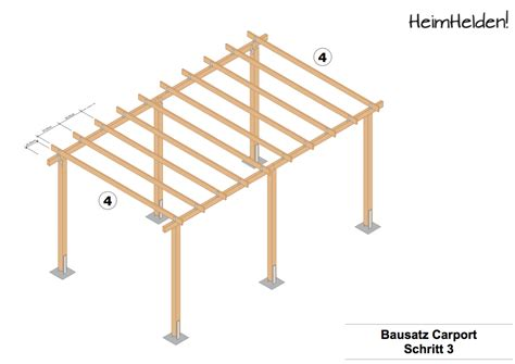 carport selber bauen anleitung bauanleitung carport