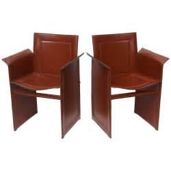 italian leather mid century modern matteo grassi armchairs
