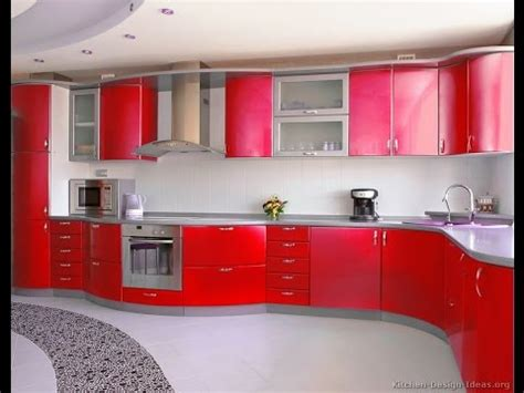 Red Kitchen Cabinets   DIY Kitchen Cabinets   YouTube