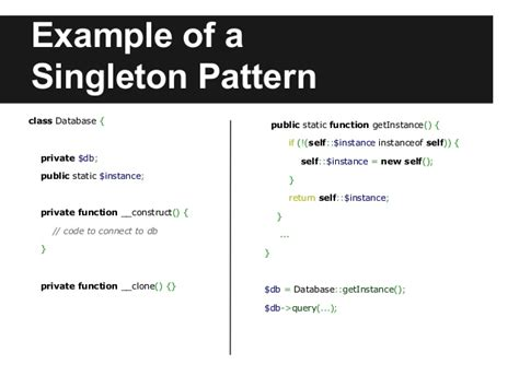 net singleton pattern design patterns in php