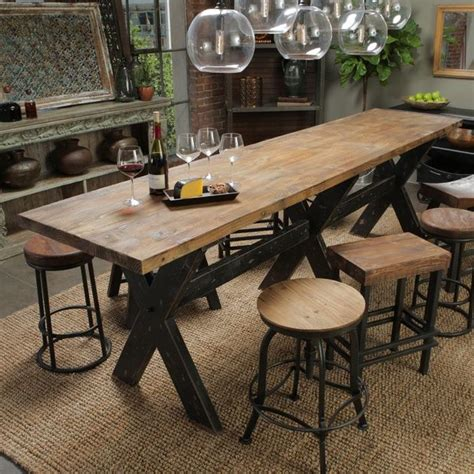 classic home gathering table with reclaimed pine