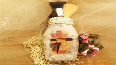 How To Decoupage A Glass Jar - how to decoupage a jar downton inspired glass jar