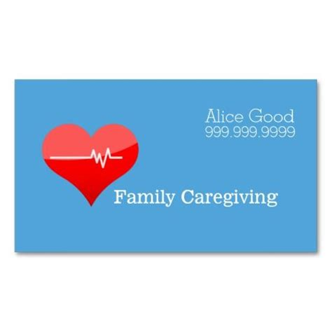 caregiver business cards templates 170 best images about caregiver business cards on