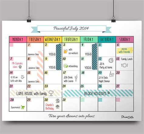 design dates calendar calendar monthly planner free printable on behance