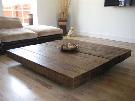 beautiful pedestal coffee table   cool wood