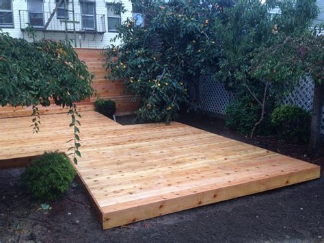 Custom Ground Level Cedar Deck