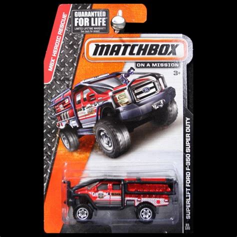 Matchbox Superlift Ford F 350 Superduty Merah matchbox 2014 heroic rescue superlift ford f350 f 350 duty carminiatures