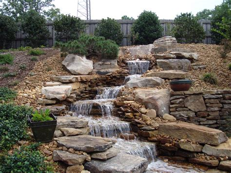 Garden Rock Features Backyard Rock Water Fountains Design Ideas