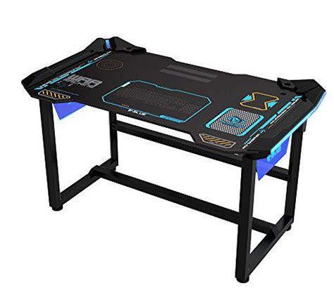 scrivania gaming e blue 1 2 m scrivania per pc gaming con wireless led glow