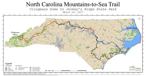 north carolina written out future plans mountains to sea trail