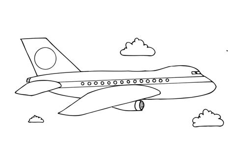 free printable airplane coloring pages for preschoolers