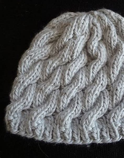 free knitted cable hat patterns made this free pattern knitting