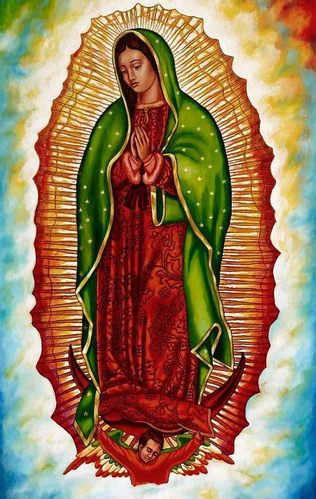 imagenes de la virgen de guadalupe navideñas virgen de guadalupe giclee sobre lienzo montado en el bloque