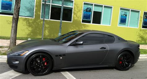 Matte Gray Maserati Granturismo Exotic Cars On The