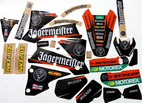 Ktm Jagermeister Graphics Graphics For Ktm Sx 125 525 2001 2004 Exc 125 525 2003