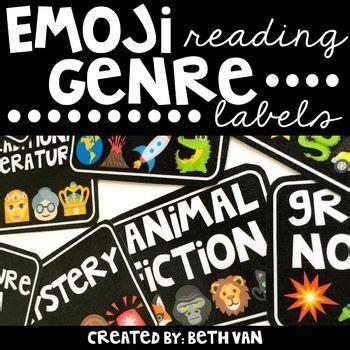 biography genre labels emoji reading genre labels genre labels book bins and