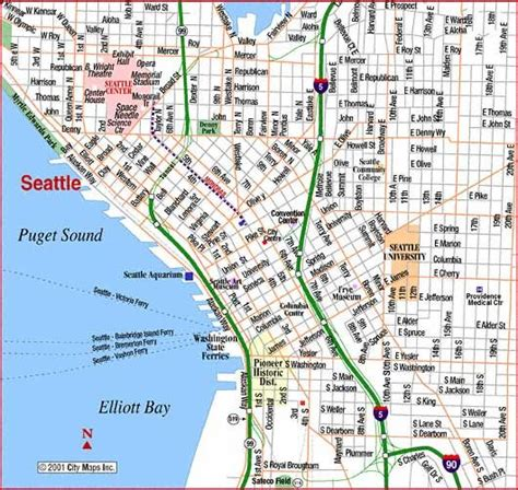 seatac map map of downtown seattle road map of seattle downtown