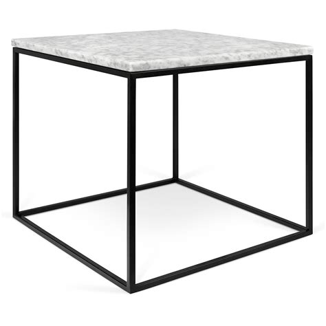 white top side table gleam white black marble modern side table by temahome
