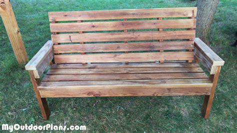 long garden bench diy long garden bench myoutdoorplans free woodworking