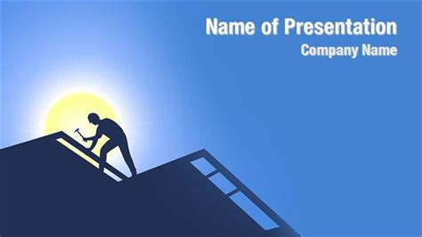Powerpoint Themes Roof | roofing powerpoint templates roofing powerpoint