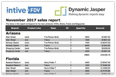 Jasper Report Template Design Dynamicjasper