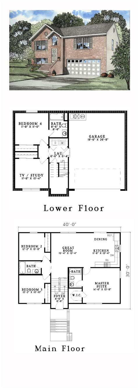 split level plans split entry house plans design basics split foyer house