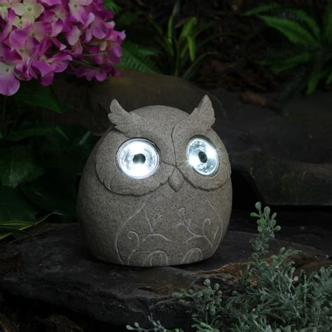 Owl Patio Lights Novelty Solar Garden Lights Statues