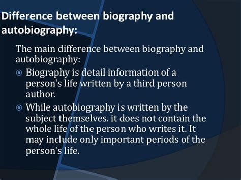 Main Differences Between Biography And Autobiography | biography and autobiography in social sciences
