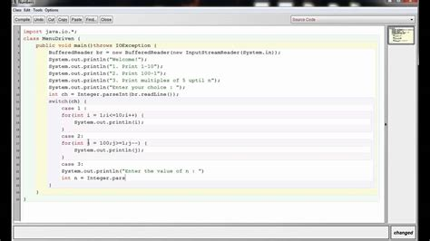 java swing exles programs icse java programming 19 menu driven program in java