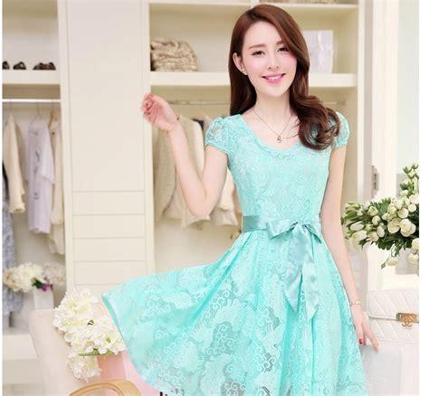Dress Wanita Motif Batik Catarina Casual Dress Wanita dress casual wanita korea summer style v neck sleeve size s light blue jakartanotebook