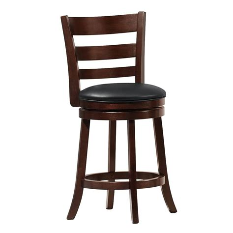swivel counter height chairs homesullivan horizontal slat swivel counter height chair