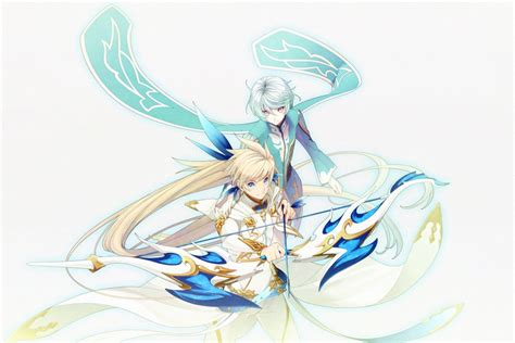 wallpaper tales  zestria sorey mikleo arrow bow