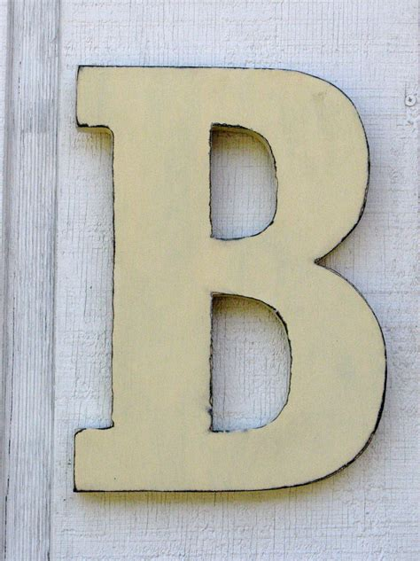 wooden letters rustic letter b home decor distressed painted