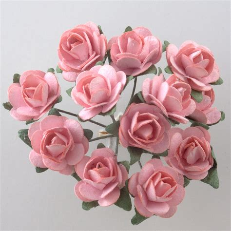 pink paper tea rose favour decorations favour this