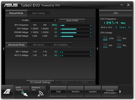 Turbov Evo Auto Tuning by Asus F2a85 V Pro Software Asus F2a85 V Pro Review A
